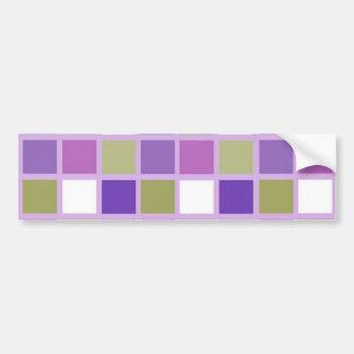 Colorful Sage Green Lavender Purple Tiles Designer Bumper Stickers
