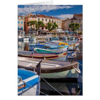 Colorful sailboats card