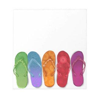 Colorful Sandals Flip-flops beach party Notepad