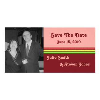 colorful save the date customised photo card