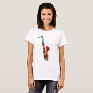 colorful saxophone T-shirts