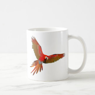 Colorful Scarlet macaw fly art Coffee Mug