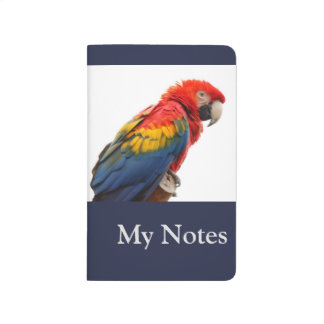 Colorful Scarlet Macaw My Notes Journals