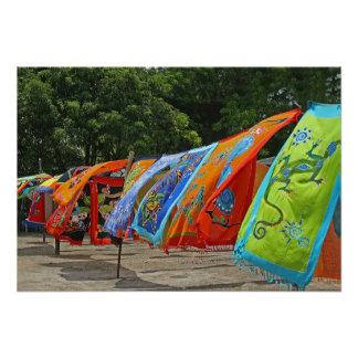 Colorful Scarves For Sale Poster