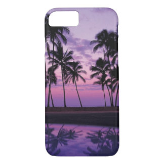 Colorful Scene of Palm Trees at Sunset iPhone 7 Case