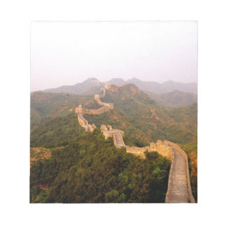 Colorful scenic at the great Wall of China in Notepad
