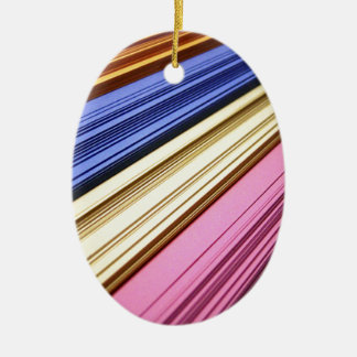 Colorful scrapbook papers christmas tree ornaments