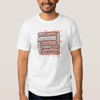 Colorful Scrapbooking T Shirts