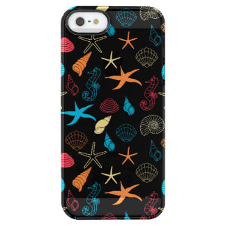 Colorful Sea Creatures Clear iPhone SE/5/5s Case