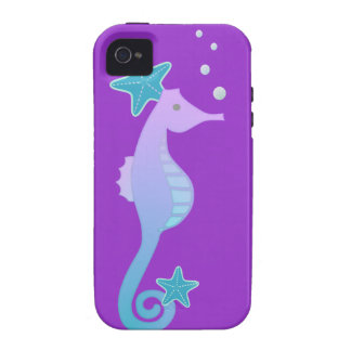 Colorful Sea Horse iPhone 4/4S Cases