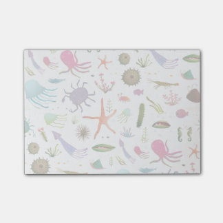 Colorful Sea Life Post-it Notes