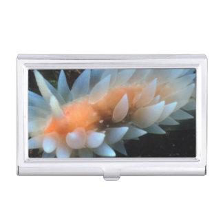 Colorful Sea Slug Sitting On The Surface Business Card Holder