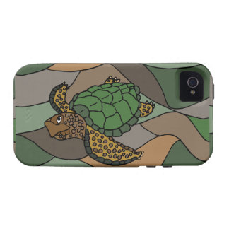Colorful Sea Turtle Abstract Art iPhone 4/4S Case