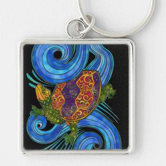 Colorful Sea Turtle Keychain