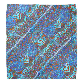 Colorful Sea Turtle Wave Patterned Bandana