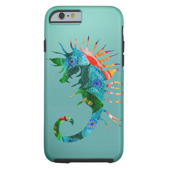 Colorful Seahorse Art iPhone 6/6s, Tough Tough iPhone