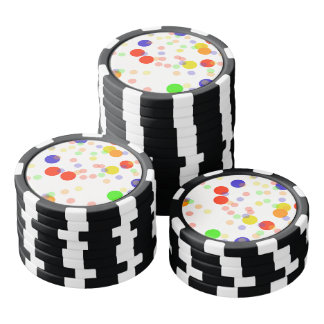Colorful Seamless pattern Poker Chips