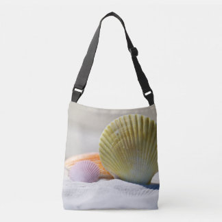 Colorful Seashells in the Sand Crossbody Bag