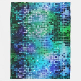 Colorful Sequins Look Disco Mirrors Pattern 5 Fleece Blanket