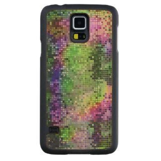 Colorful Sequins Look Disco Mirrors Pattern 6 Maple Galaxy S5 Slim Case