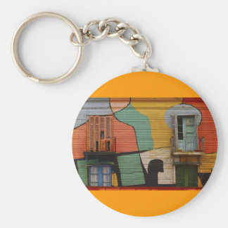 Colorful Shacks Buenes Aires Argentina Key Ring