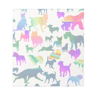 Colorful Shadow Dogs Notepad