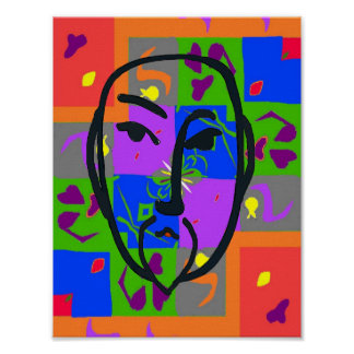 Colorful Shapes Matisse Style Poster