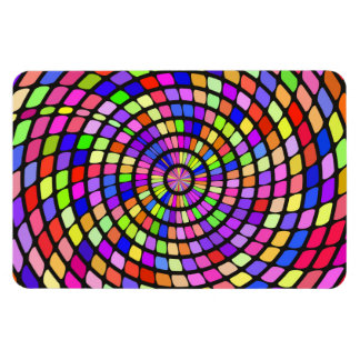 Colorful shapes whirlpool rectangular photo magnet