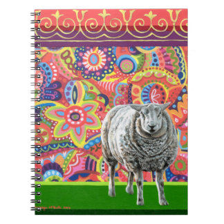 Colorful Sheep Art Notebook
