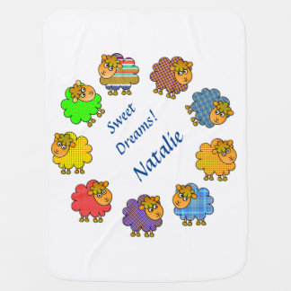 Colorful Sheep Baby Blanket