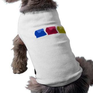 Colorful Shih Tzu Silhouettes Sleeveless Dog Shirt