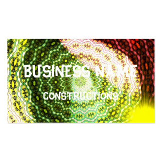 Colorful shining light pattern business card