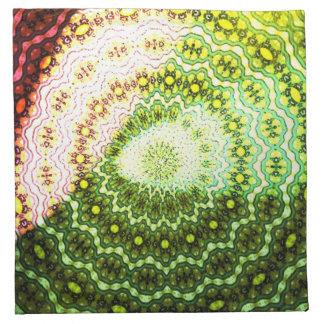 Colorful shining light pattern napkin