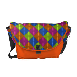 Colorful Shiny Tile Design Courier Bags