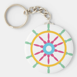 Colorful Ship Wheel Keychains