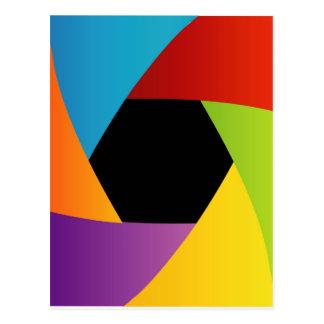 Colorful Shutter aperture background Postcard