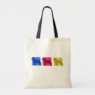 Colorful Siberian Husky Silhouettes Tote Bag