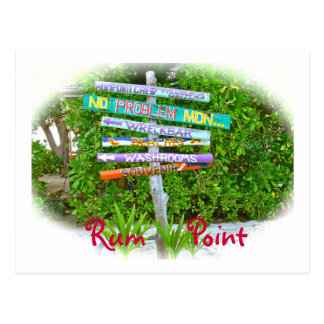 Colorful Signs in Rum Point Postcard