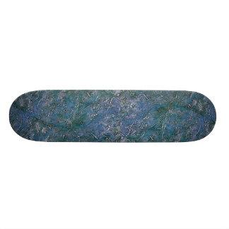 Colorful Silver Chicken Tracks Custom Skateboard