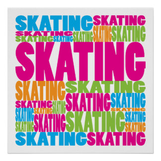 Colorful Skating Poster