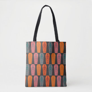 Colorful skeletons tote bag