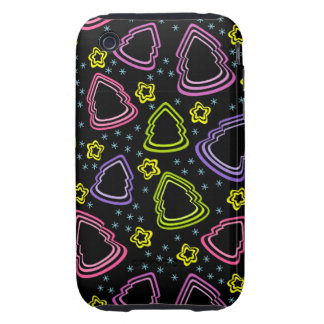 Colorful Sketchy Christmas Trees 3G/3GS Case-Mate iPhone 3 Tough Covers