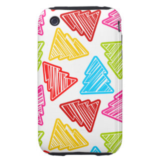 Colorful Sketchy Christmas Trees 3G 3GS Case-Mate iPhone 3 Tough Covers