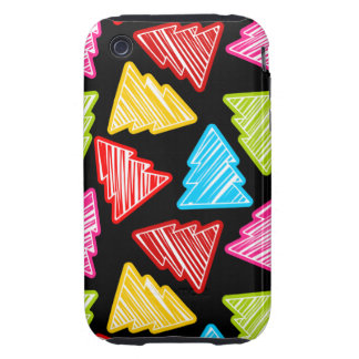 Colorful Sketchy Christmas Trees 3G 3GS Case-Mate iPhone 3 Tough Cases