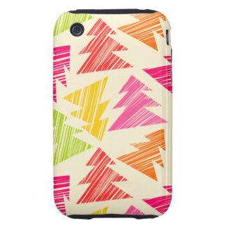 Colorful Sketchy Christmas Trees 3G/3GS Case-Mate Tough iPhone 3 Cases