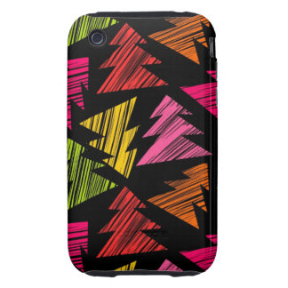 Colorful Sketchy Christmas Trees 3G 3GS Case-Mate Tough iPhone 3 Cover