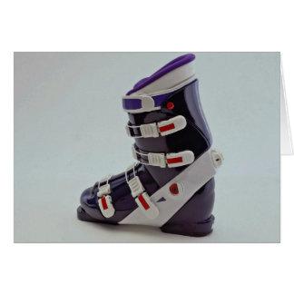 Colorful Ski boot Card
