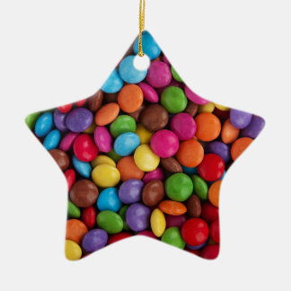 Colorful skittles candy ceramic star decoration