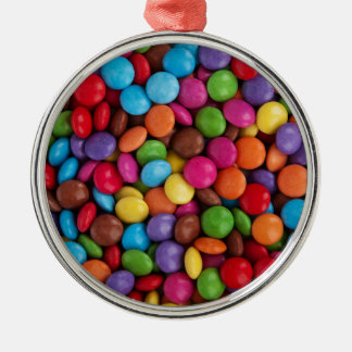 Colorful skittles candy christmas ornament