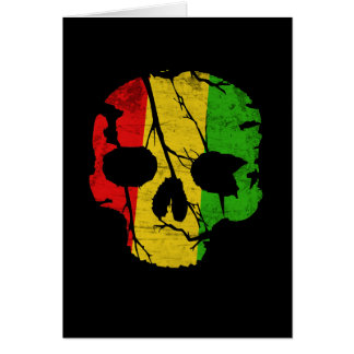 Colorful Skull Card